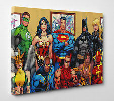 Marvel Avengers Superheroes Superman Batman etc Photo Canvas Print Wall Art A1