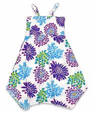 Girls Summer Floral Strappy Dress Peace Printed Motif Strappy Dress Age 4-15 Yrs