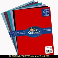 Silentnight Fitted Valance Sheet, All colours and sizes available from £8.99