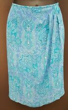 Worthington Women's Paisley Blue Skirt 10P EUC