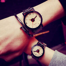 Attractive Popular Stainless Steel Band Wrist Watch Charm Classical For Couple