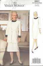 Vogue 8601 Misses'/Miss Pet Jacket and Dress  8, 10, 12   Sewing Pattern