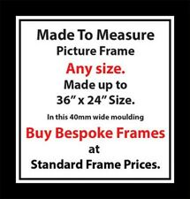 Made to measure Custom Made Bespoke Picture Frames London| 40mm Wide Moulding UK