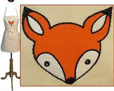 "Fox Baby Apron 24"" or 30"" Cute Foxes Monogram Kitchen Chef Artist Smock Custom"