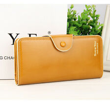New Baellerry Famous Luxury Brand Womens Wallet Long Hasp Trifold Purse Leather