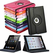 "360 Rotating Smart Leather Stand Folio Case Cover for Apple iPad 9.7"" iPad 2 3 4"