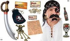 ADULT FANCY DRESS PIRATE ACCESSORIES ALL KINDS PHOTO BOOTH PARTY PIRATE COSTUME