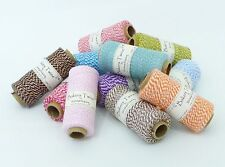 Bakers Twine 100% Cotton - Best Quality - 15 Beautiful Colours - 5m / 10m / 20m