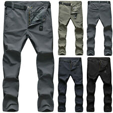 Men's Outdoor Overalls Quick-Dry Long Pants Waterproof Hiking Climbing Trousers