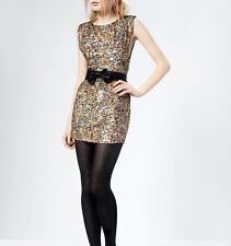 TOPSHOP open size sequin dress by dress up  size 6/810
