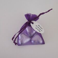 3 Chocolates, Purple Organza bag & Printed Tag Wedding/ Christening Bomboniere