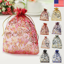 100PCS Organza Wedding Xmas Party Favor Gift Candy Bags Jewellery pouch Beauty