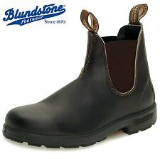 MENS Blundstone 500 LEATHER DEALER CHELSEA BROWN ANKLE SHOES BOOTS UK SZ 6-12