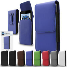 Premium Leather Vertical Pouch Holster Case Clip For HTC WildFire G8