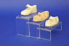 Set of 3 Small Acrylic Display Stands Risers Plinths- Retail Display