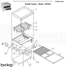 Birko Griddle Toaster Model 1003001 Spare Parts Grill Genuine New Part