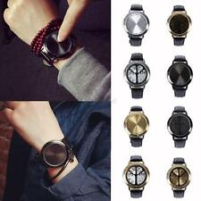 Unisex Mens Womens Alloy Wristwatch Intelligent Couple Watches Faux Leather Band