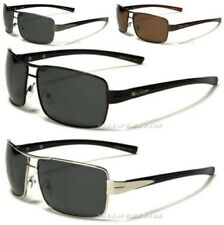 X-LOOP SUNGLASSES NEW MENS BLACK POLARIZED AVIATOR LARGE DRIVING FISHING UV400