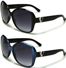 NEW SUNGLASSES BLACK VG DESIGNER LADIES WOMENS GIRL RETRO BIG VINTAGE LARGE OVAL