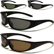 NEW BLACK SUNGLASSES POLARIZED MENS LADIES WOMENS UNISEX LARGE WRAP DESIGNER