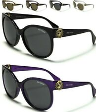 NEW BLACK SUNGLASSES POLARIZED LADIES GIRLS CAT EYE LARGE RETRO VINTAGE DESIGNER