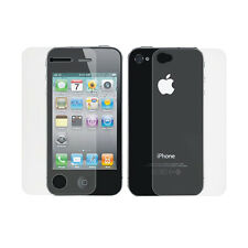 6/3/1x Front + Back Clear Screen Protector Full Body Guard Film For iPhone 4 4S
