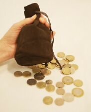 LARP-Medieval-Re-enactment-Cos-Play- BROWN LEATHER GAMING LARP BAG/POUCH
