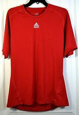 NWT MENS ADIDAS TECHFIT RED SHORT SLEEVE COMPRESSION SHIRT SIZE S, L
