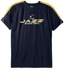 Utah Jazz NBA Majestic Mens Buzzer Beater Synthetic Shirt Big & Tall Sizes