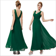 Hot-sale Summer Sexy Ladies Chiffon V-Neck Waist Evening Party Long Maxi Dress