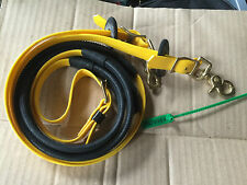 Zilco Deluxe Reins Yellow Biothane with Brass Fittings 3879989
