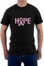 Hope Breast Cancer Awareness Pink Ribbon T-Shirt Support
