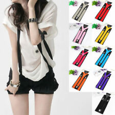 Fashion Womens Mens Unisex Elastic Y-Shape Braces Adjustable Clip-on Suspenders