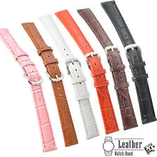 Crocodile Alligator Grain Cow Leather Watch Band Strap for Huawei Smart Watch