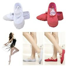 Adult Canvas Ballet Dance Shoes Slippers Pointe Dance Gymnastics