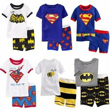 Kids Baby Boy Toddler Set Superhero Spiderman Sleepwear Nightwear Pajamas 2-7Y