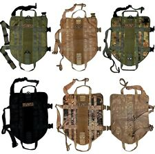 TACTICAL DOG VEST HARNESS K9 MOLLE ARMY HUNTING TRAINING MILITARY VELCRO PATCH