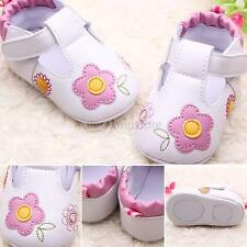 Newborn Kid Infant Girl PU Leather Shoe Soft Sole Flower Shoe for 0-18M Baby Hot