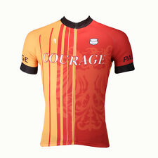 Men's Cycling Bike Short Sleeve Shirt Clothing Bicycle Jersey Top Red Size S-4XL