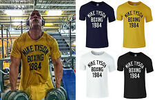 New Men's Legend Iron Mike Tyson Boxing 1984 Gym Wear T-Shirt Sport Training Top