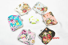 Women Lady Lovely Mini Bag Ladies Metal Frame Coins Clutch Purse Small Wallet