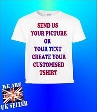 Customised Kids T shirt Your Photo Your Text Your Design Personalised Present