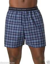 10 Hanes Men's Yarn Dyed Plaid Boxers Underwear - Assorted Colors - S-2XL