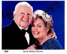 PSA/DNA JAN & MICKEY ROONEY AUTOGRAPHED-SIGNED 8X10 PHOTO-PHOTOGRAPH AA94323
