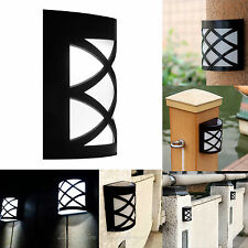 Solar LED Light Powered Wall Mount Garden Path Landscape Fence Yard Lamp Outdoor