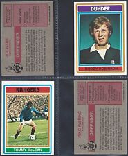 TOPPS - FOOTBALL 1976 SCOTTISH RED BACK (NUMBERS 001-030) SELECT YOUR CARD