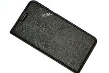 Black Executive Book / Wallet Case For Galaxy J5, Note5, S6 Edge+ with Card Slot