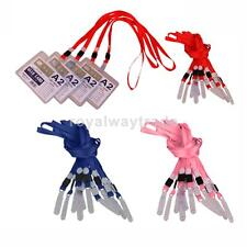 10x Lanyard ID Badge Holder Neck Strap Keychain With No Twist PVC Hook Office