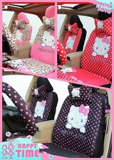 New Universal Hello Kitty Car Seat Covers Front Rear Cover Accessory Set 10 Pcs