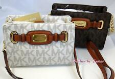 New w Tag MICHAEL KORS MK SIGNATURE PVC HAMILTON MESSENGER BAG